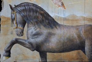 Frison with Star Under Storm (Detail)