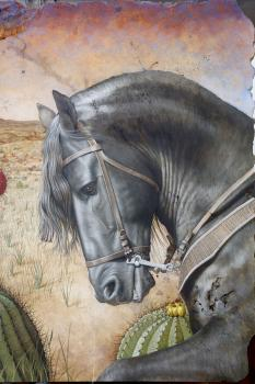 Frison in front of Peña de Bernal (Detail)